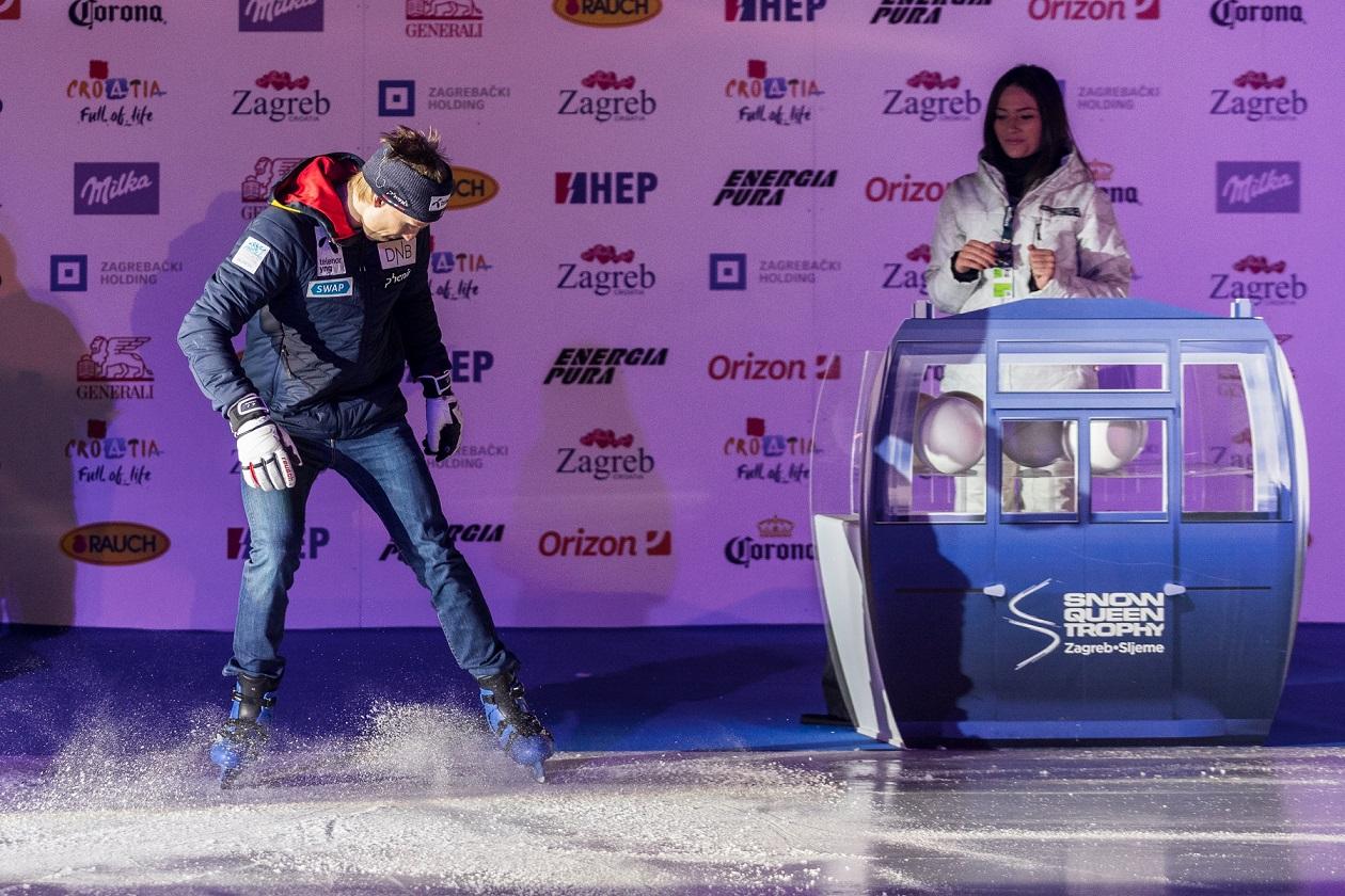 Henrik Kristoffersen dobro se zabavljao na ledu prije nego što je izvukao svoj startni broj